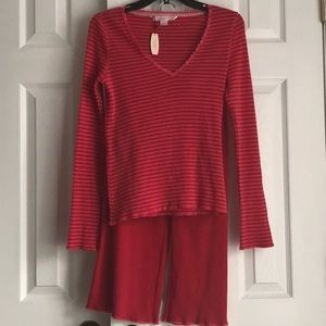 Victoria's Secret Waffle Cotton Blend Pajama Set